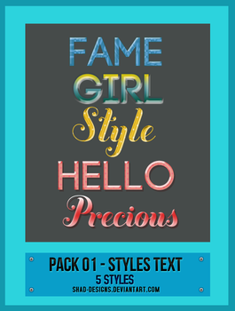 Pack 01 - Styles Text by shad-designs by shad-designs