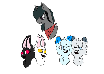 Character head shots [GIFT] by wolfboyfound
