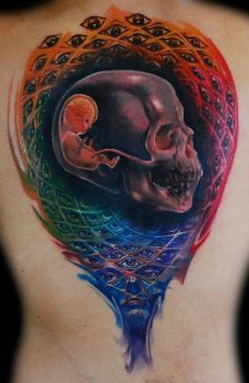 Alex Grey tattoo 2nd session by FaceOfInsane