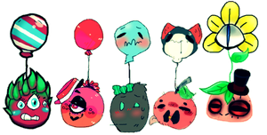floating fruits / Collab by afroclown
