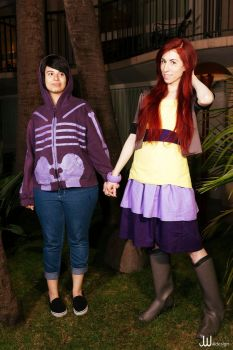 Wendy Corduroy and Robbie V Summerween Cosplay by RedVelvetCosplay