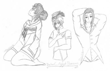 Toshiro, Doctor C. Abbot Burrows, and Dante~ by Lovepiko