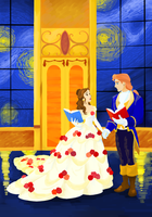 Disney Colouring Contest - Beauty and the Beast by Book-Nose