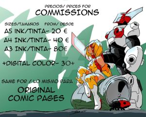 Rate prices for Commissions