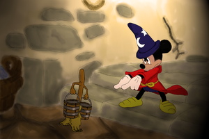 Mickey Mouse - Fantasia Tribute by rjcalvente