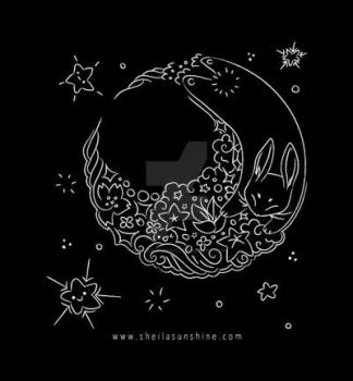 Moon Rabbit Tote Bag by SheilaSunshine