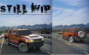 HUMMER H3 WIP by Artificialproduction