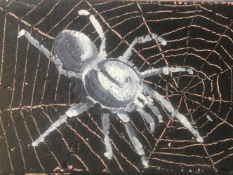 Shitty spider painting by ChuckyAndy