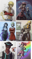 RWBYAC - Days 25 to 30 by samanthacannon