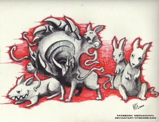 ink terror rats by HTECORE