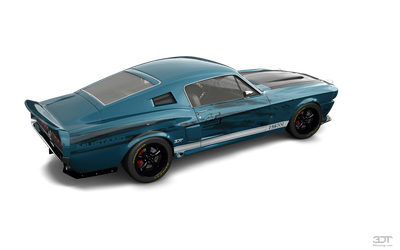 3dt Blue Track Mustang by NASCARnoob