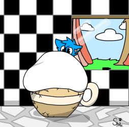 Wolfie In A Tea Cup by MythicalFurryWolfie