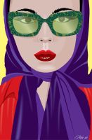 Illustration with glasses by mambographic