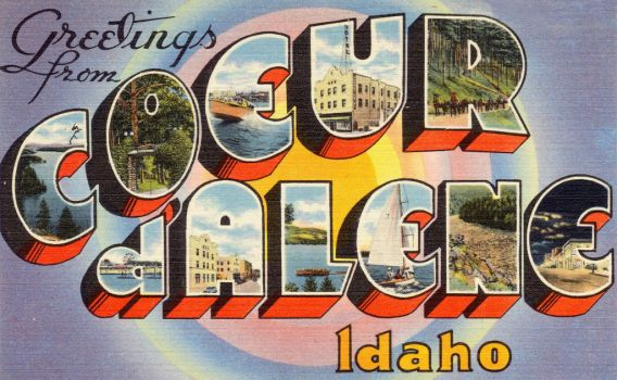 Large Letter Postcard - Coeur d'Alene, Idaho by Yesterdays-Paper