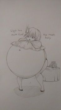 too much belly by boogapig55