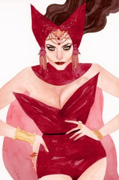 Scarlet Witch by kevinwada