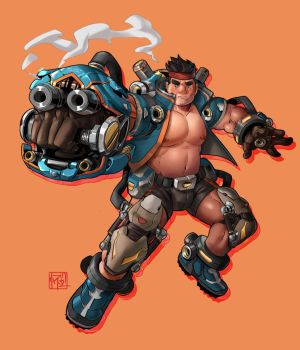Bear and Bolts 9 Mechacub colored by slumberus