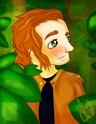 Nathan .:Headshot Commission:. by IvyDevi