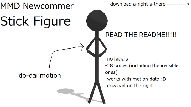 MMD Newcommer Stick Figure by monobuni