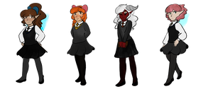 Hogwarts AU: Posin' Ladies Pt 1 by Mouse-La-Flutist