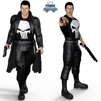 Iray - Heroes - Punisher by Daniel-Remo-Art