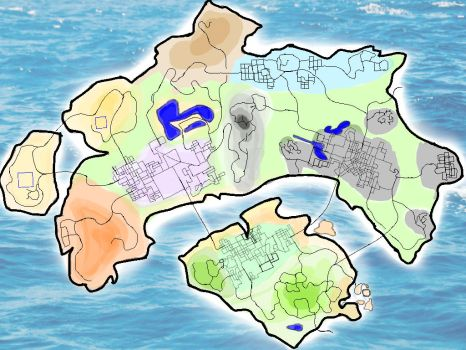 Gamindustri Map by 38Caution-MK2
