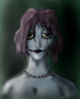 Creepy Woman -colored- by AlphaXXI