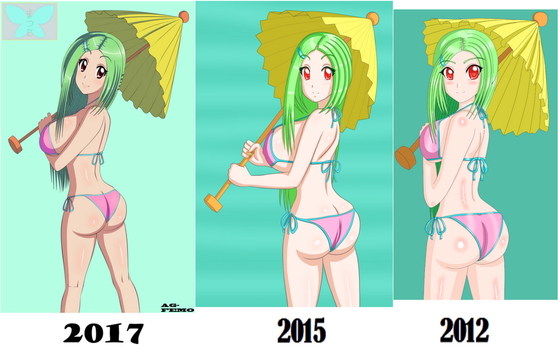 Matsuko then and now by AG-Femo