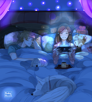 Comm: cosy in bed by MonkeyHazard