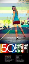 50 Photoshop Postwork Actions by mauricioestrella