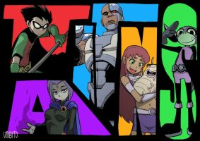 TEEN TITANS by umibito