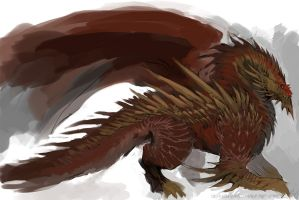 Speedpaint: Spiked Dragon by DefiledVisions