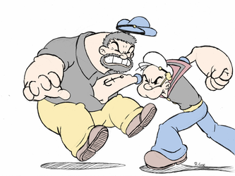 Popeye vs Bluto by rongs1234