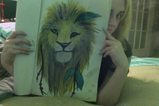 Lion Painting by Cheeseburger911