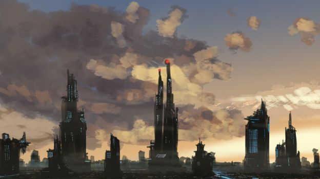 Cloud over the city by ANIME407