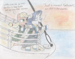 My heart will go on with style (Titanic/MLP FIM) by BrogarArts