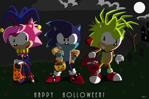 Sonic Underground Holloween by Domestic-hedgehog
