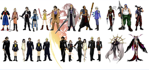 Final Fantasy VIII - all characters (Nomura) by zelu1984