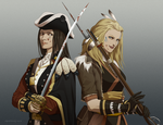 Redcoat and Pioneer by doubleleaf