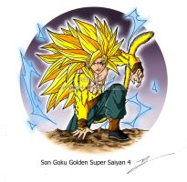 Son Goku Super Saiyan 4 - Dragon Ball New GT by Renow54