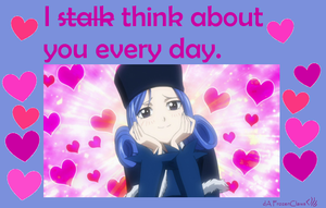 Fairy Tail Valentine: Juvia isn't stalking you by FrozenClaws