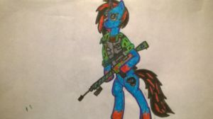 Paradox and his sniper rifle by sparity-bronieboy444