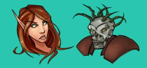 WoW: commission doodles by dalmuln