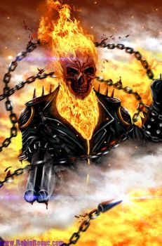 Rage Of Ghost Rider by RoqueRobinArt