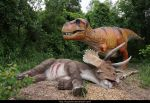 T-Rex and its Prey by KYghost