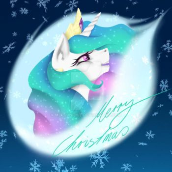 Merry Christmas - Celestia-Style by MLPsUnique