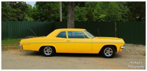 A Sharp Yellow Chevy Bel-Air by TheMan268