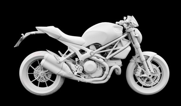 Ducati Monster 1100 EVO wip by masvaley