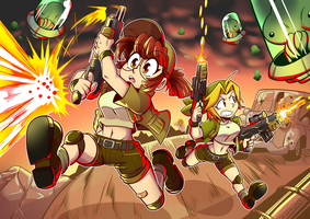 Metal slug girls by Anaugi