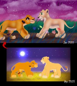 Simba and Nala by Kida-Ll